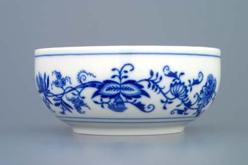Cibulák Miska hladká vysoká 13,2 cm originální cibulákový porcelán Dubí , cibulový vzor,