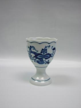 Cibulák Kalíšek na vejce bez podstavce velký 9,5 cm balení po 1 ks originální cibulákový porcelán Dubí, cibulový vzor,
