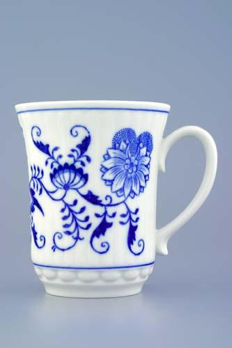 Cibulák hrnek Derby M 0,25 l, originální cibulákový porcelán Dubí, cibulový vzor,