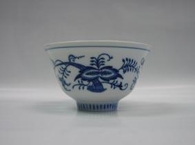 Cibulák miska čajan 12 cm originální cibulákový porcelán Dubí, cibulový vzor,