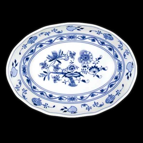 Cibulák mísa salátová oválná 27,8 cm originální cibulákový porcelán Dubí, cibulový vzor,