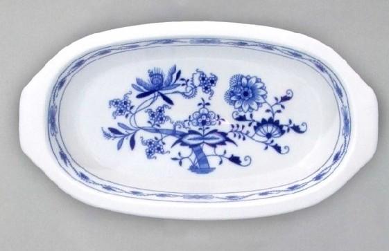 Cibulák Mísa zapékací s uchy 25 cm originální cibulákový porcelán Dubí, cibulový vzor,