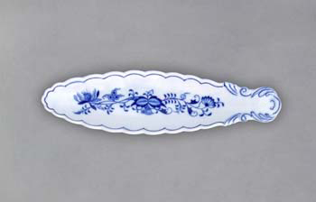 Cibulák Miska na olivy kanoe 21,7 cm originální cibulákový porcelán Dubí, cibulový vzor
