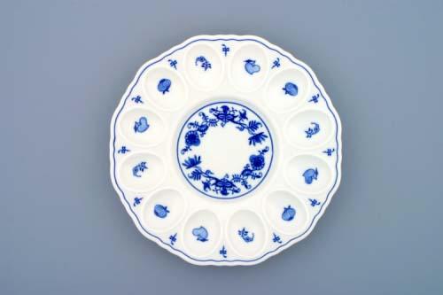 Cibulák podnos párty na vejce 24,3 cm originální cibulákový porcelán Dubí, cibulový vzor