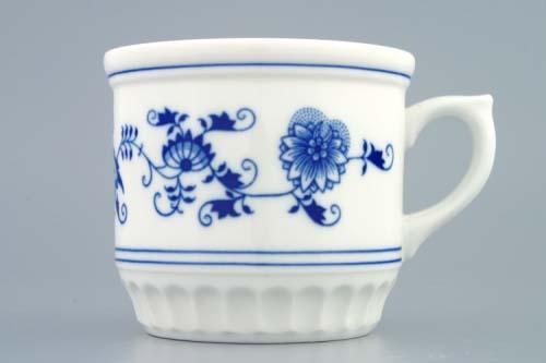 Porcelán Cibulák Hrnek 0,42 L, Selský, originální cibulákový porcelán Dubí, cibulový vzor