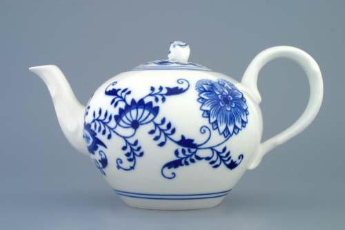 Cibulák konvice čajová s víčkem 0,95 l originální cibulákový porcelán Dubí, cibulový vzor