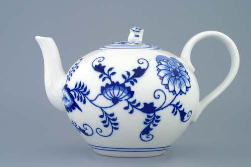 Cibulák konvice čajová s víčkem 1,2 l originální cibulákový porcelán Dubí, cibulový vzor