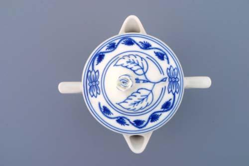 Cibulák Omáčník kulatý s víčkem 0,35 l originální cibulákový porcelán Dubí, cibulový vzor