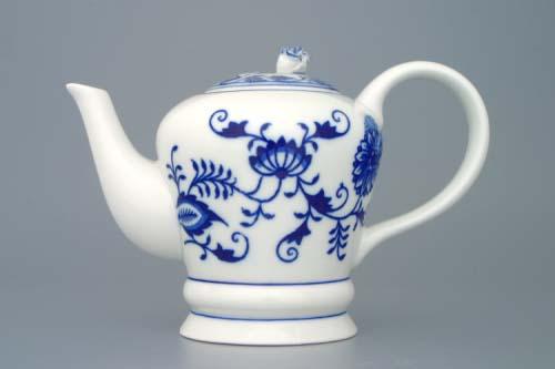 Cibulák Konvice čajová FM s víčkem 0,35 l originální cibulákový porcelán Dubí, cibulový vzor,