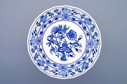 Cibulák Mísa kompotová oboustranná na dortové noze 24 cm originální cibulákový porcelán Dubí, cibulový vzor,