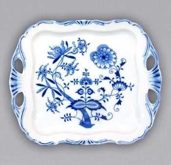 Cibulák Podnos Aida čtvercový 30 cm originální cibulákový porcelán Dubí, cibulový vzor
