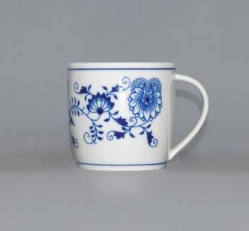 Cibulák Hrnek Andreas M 0,26 l, originální cibulákový porcelán Dubí, cibulový vzor