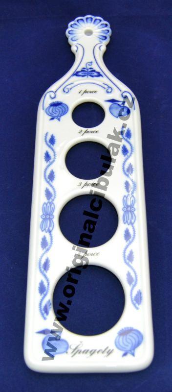 Cibulák měrka na porce špaget 30 cm originální cibulákový porcelán Dubí, cibulový vzor,