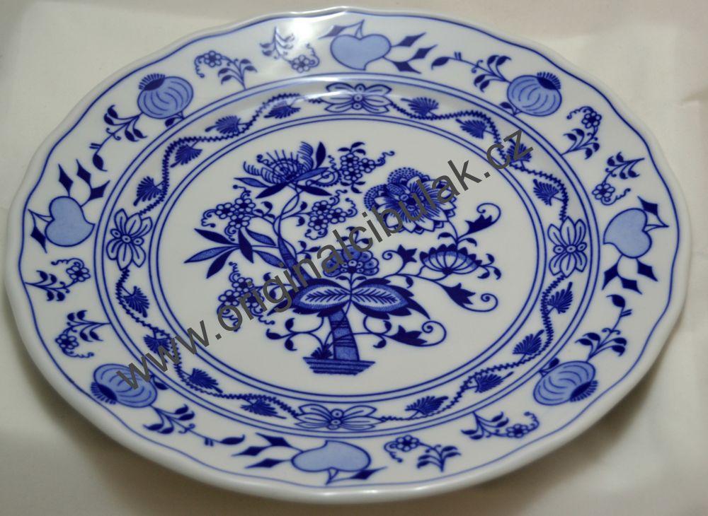 Cibulák talíř mělký 26 cm originální cibulákový porcelán Dubí