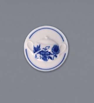 Cibulák Magnetka kulatá cukřenka s uchy 4,5 cm originální cibulákový porcelán Dubí, cibulový vzor