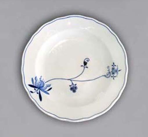 Talíř mělký praporový 24 cm - ECO cibulák, cibulový porcelán Dubí