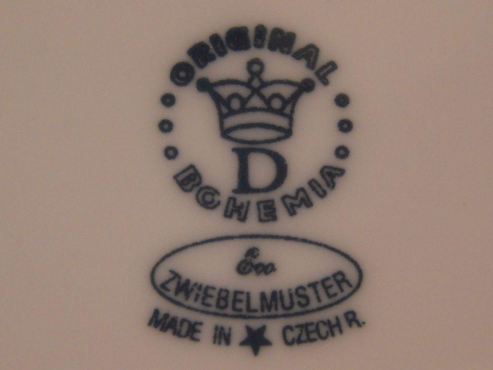 Talíř koláčový s uchy 28 cm ECO cibulák cibulový porcelán Dubí