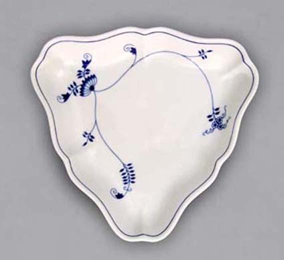 Mísa salátová tříhranná, 24 cm, ECO cibulák, cibulový porcelán Dubí