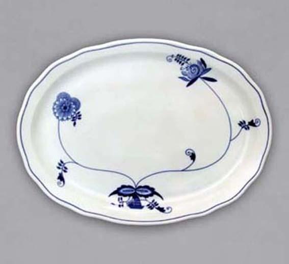 Talíř oválný 34,7 cm ECO cibulák, cibulový porcelán Dubí