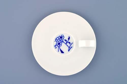 Podšálek espresso Bohemia Cobalt - design prof. arch. Jiří Pelcl, cibulový porcelán Dubí