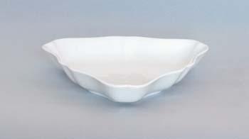 Mísa porcelán bílý salátová tříhranná 19,5 cm Český porcelán Dubí