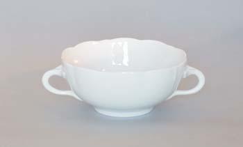 Šálek bujón porcelán bílý s 2 oušky, 0,30 l Český porcelán Dubí