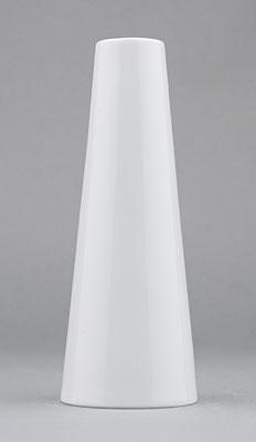 Váza porcelánová bílá Hotelová úzká vysoká 15,2cm Český porcelán Bohemia