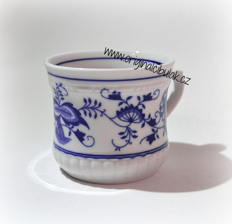 Cibulák hrnek Perlový malý 0,26 l originální cibulákový porcelán Dubí cibulový vzor
