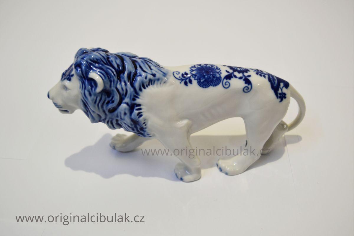Cibulák Lev 12cm originální cibulákový porcelán Dubí, cibulový vzor,