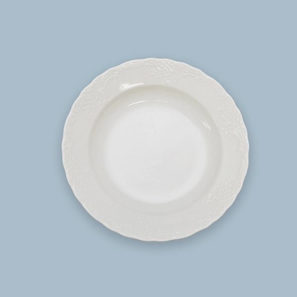 Talíř hluboký porcelánový bílý Opera 21 cm Český porcelán Dubí