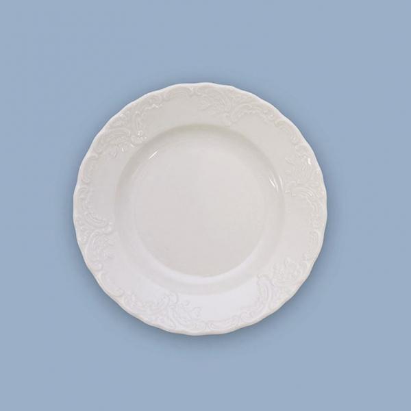 Talíř dezertní porcelánový bílý Opera 17 cm Český porcelán Dubí