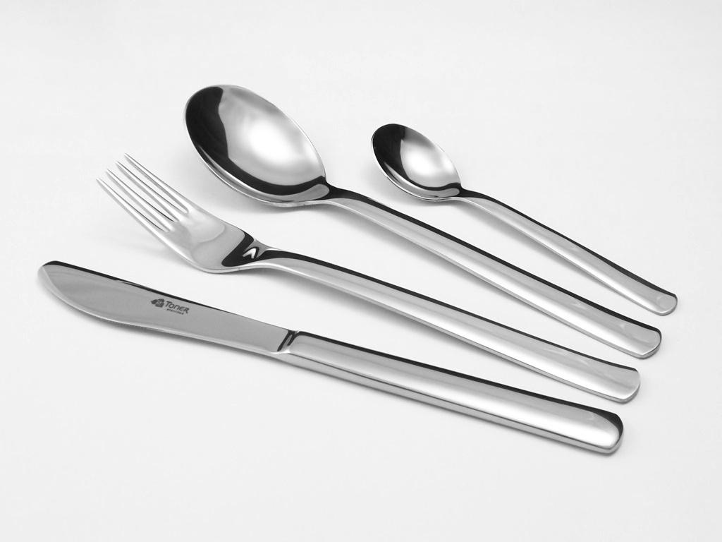 Příbory TONER Progres jídelní sada 70 ks pro 12 osob nerez 6016