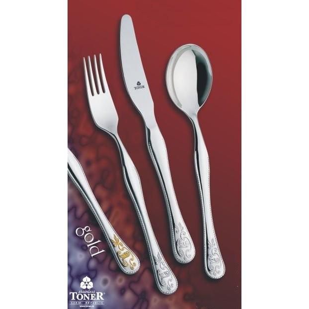 Vidlička jídelní TONER Baroko Gold zlacená 1 ks nerez 6009