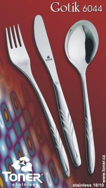 Nůž jídelní Toner Gotik 1 ks nerez 6044