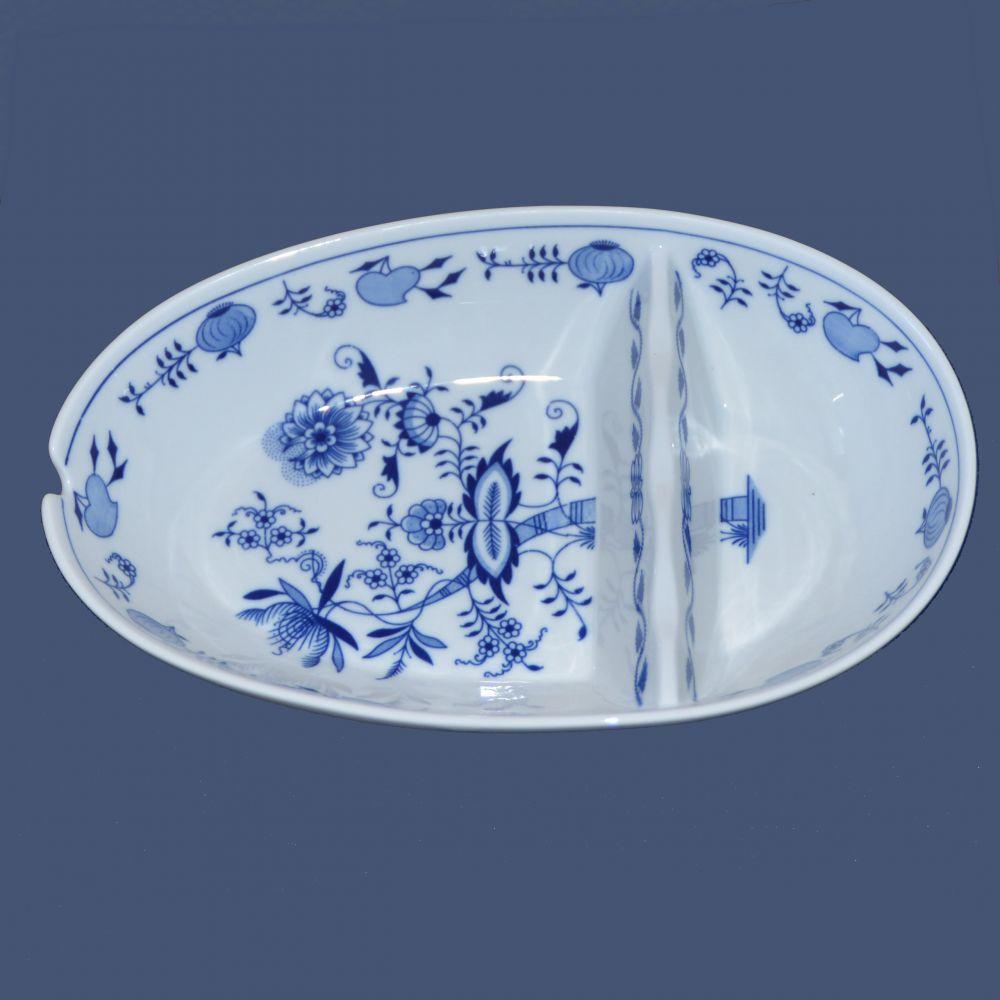 Cibulák Mísa oválná na špíz, 29 cm originální cibulákový porcelán Dubí, cibulový vzor,