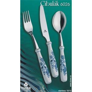 Cibulák - Jídelní doplňková souprava 23 ks originální cibulák,cibulový příbor- porcelán