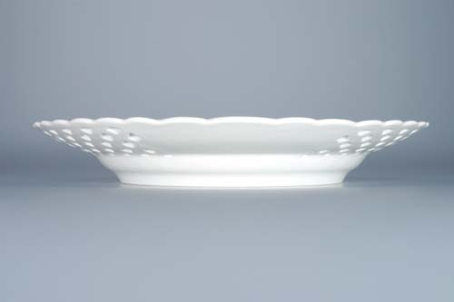 talíř prolamovaný 24 cm, 10153 cibulák český porcelán Dubí