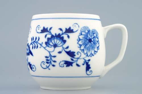 Porcelán Cibulák hrnek Baňák 0,30 l originální cibulákový porcelán Dubí, cibulový vzor