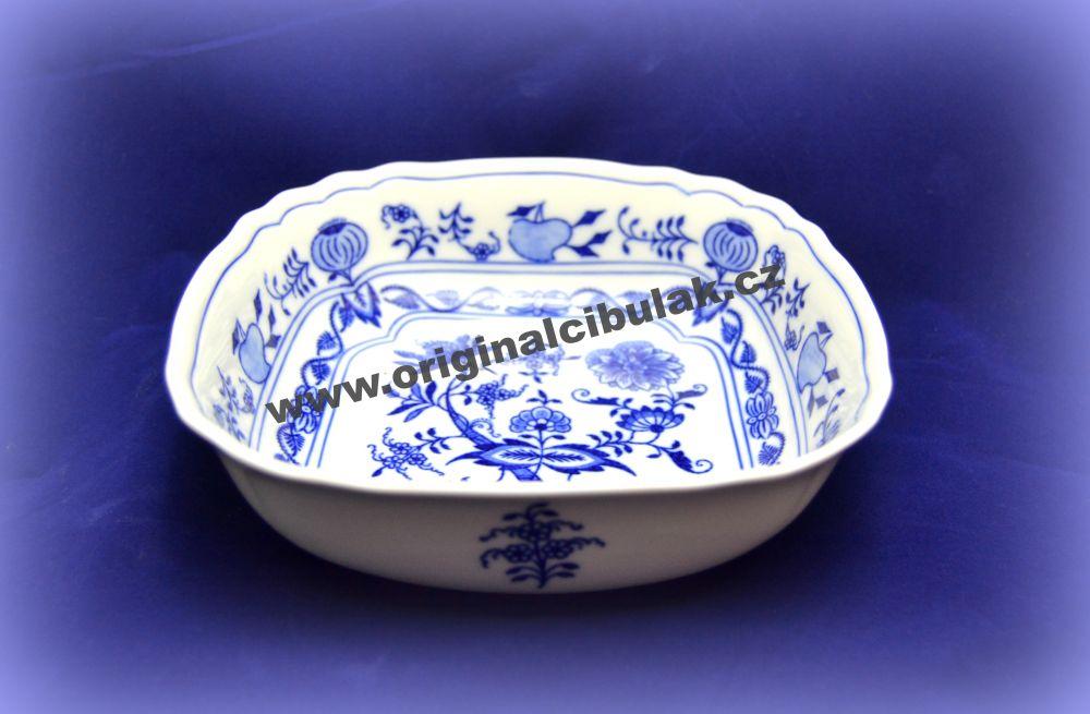 mísa cibulák salátová čtyřhranná italská 19 cm český porcelán Dubí