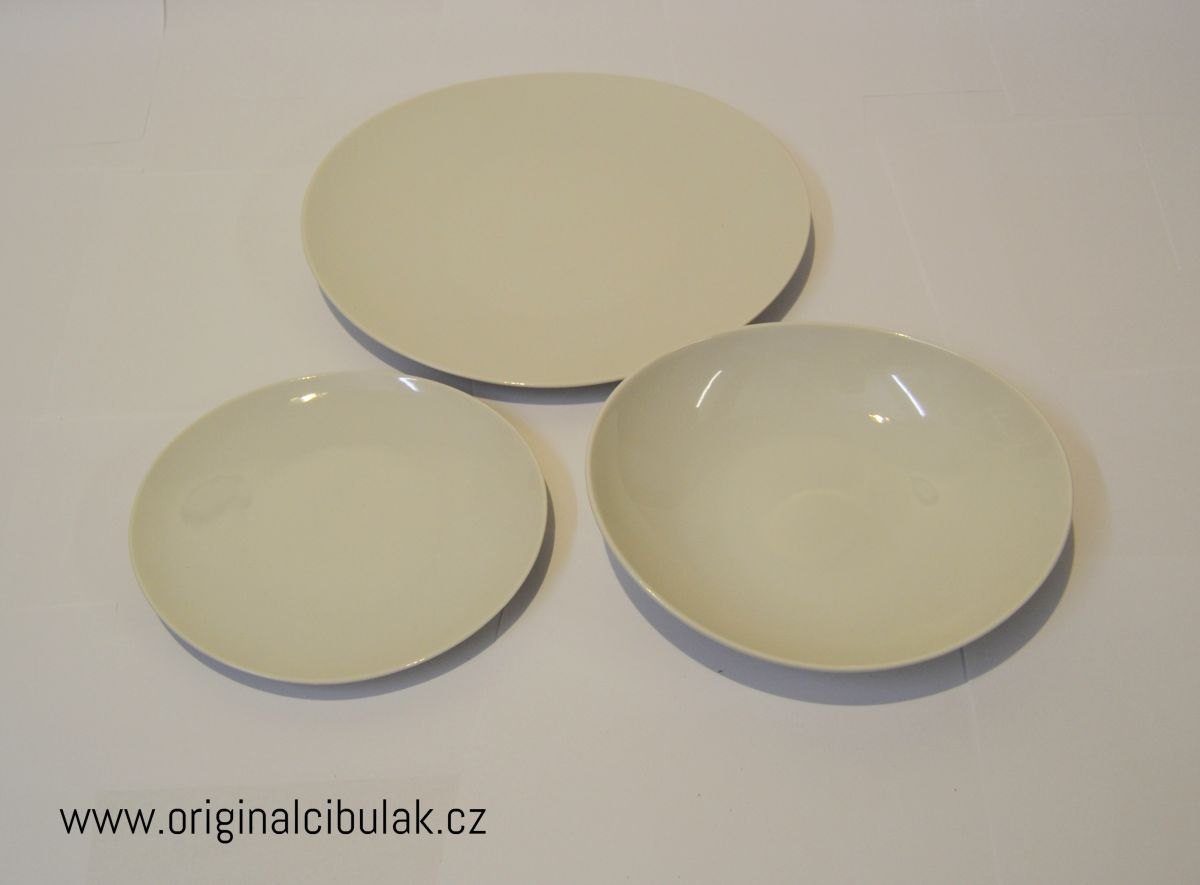 Loos talířová souprava bílý porcelán Thun 6 osob 18 dílů český porcelán Nová Role