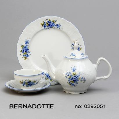 Pomněnky Bernadotte kompotová souprava porcelán Thun 6 osob 7 dílů český porcelán Nová Role