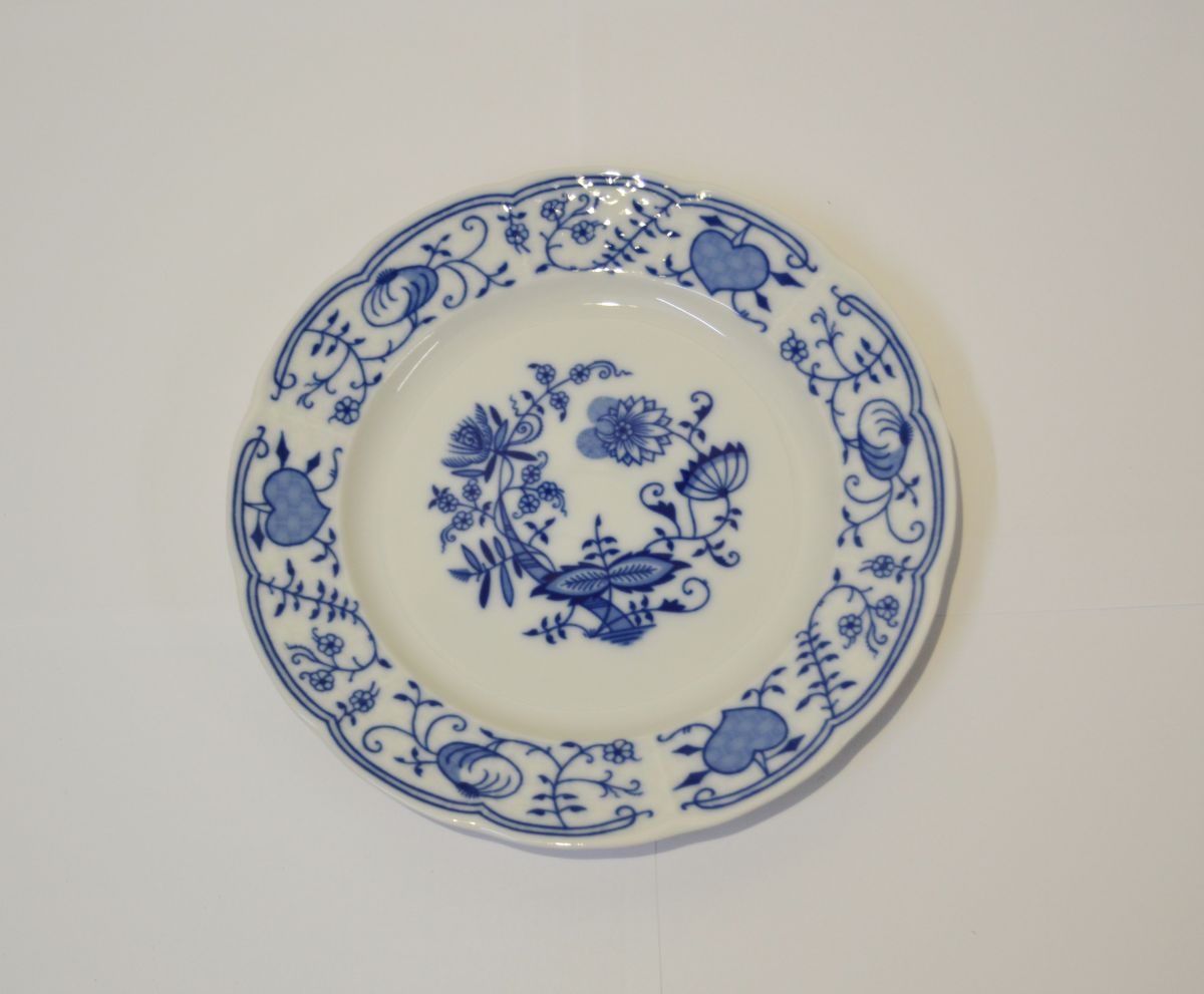 cibulák talíř desertní Natalie Thun 19 cm 1 ks cibulákový porcelán Nová Role