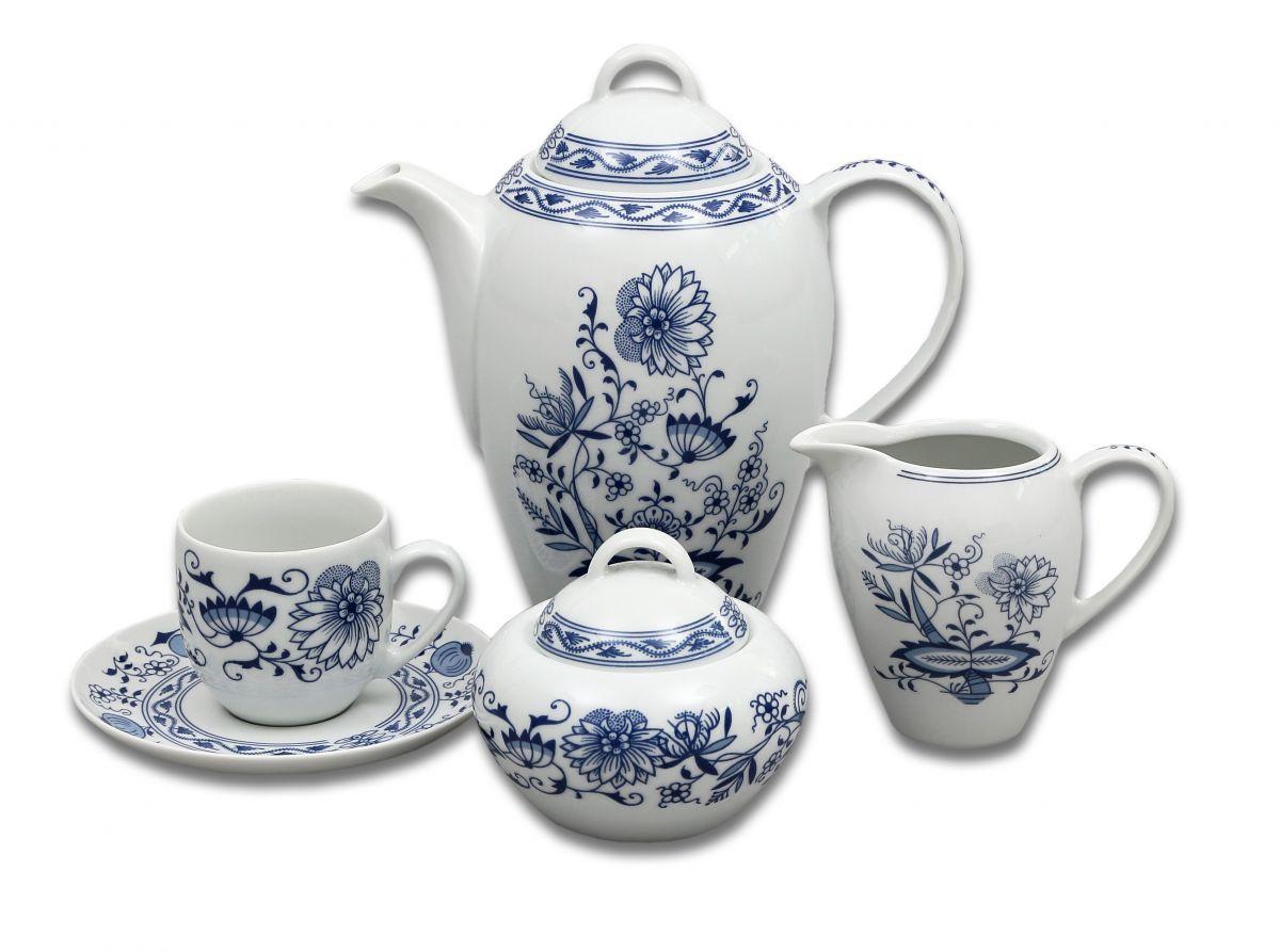 cibulák Henriette konvice kávová 1,2 L henrieta Saphyr Thun 1 ks cibulákový porcelán Nová Role