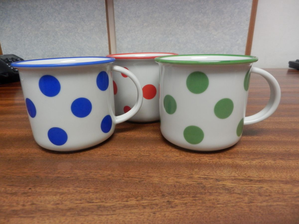 hrnek Tina modré puntíky malé 0,26 l český porcelán Dubí