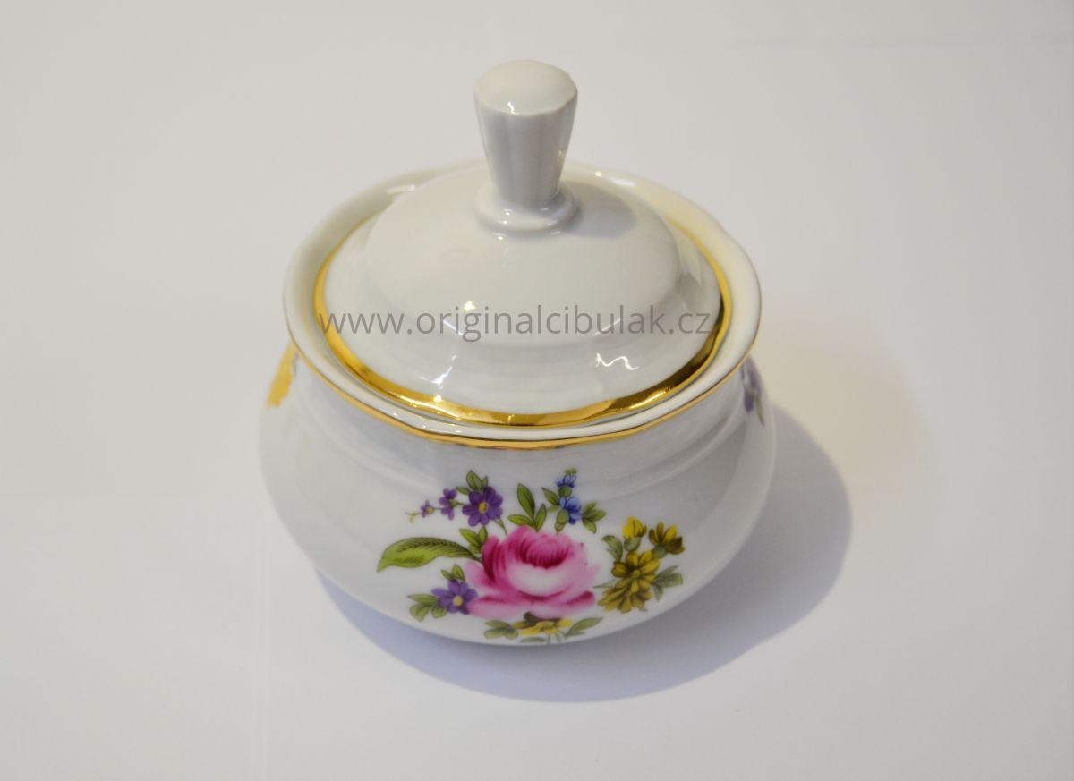 kytky barevné čajová souprava Natalie Thun 6 osob 15 dílů porcelán Nová Role