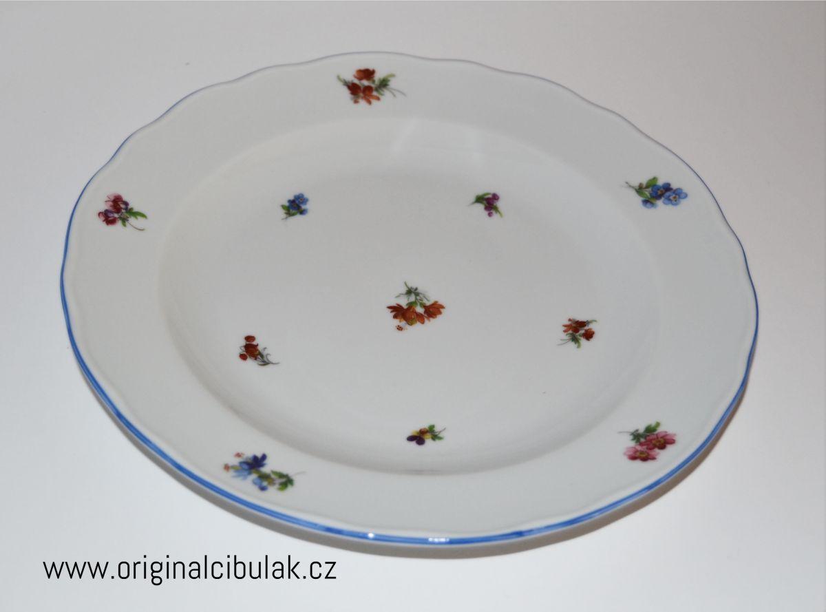 talíř házenka hluboký 24 cm český porcelán