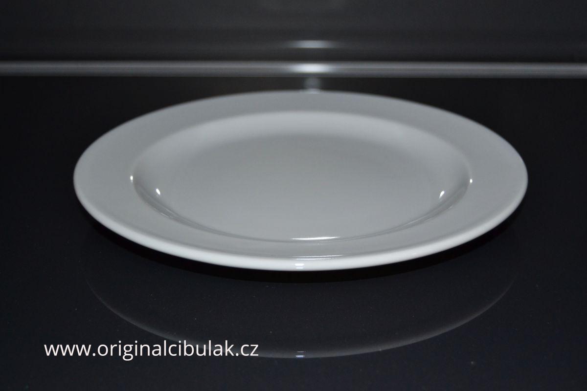 Talíř Praktik mělký 25 cm bílý Thun český porcelán