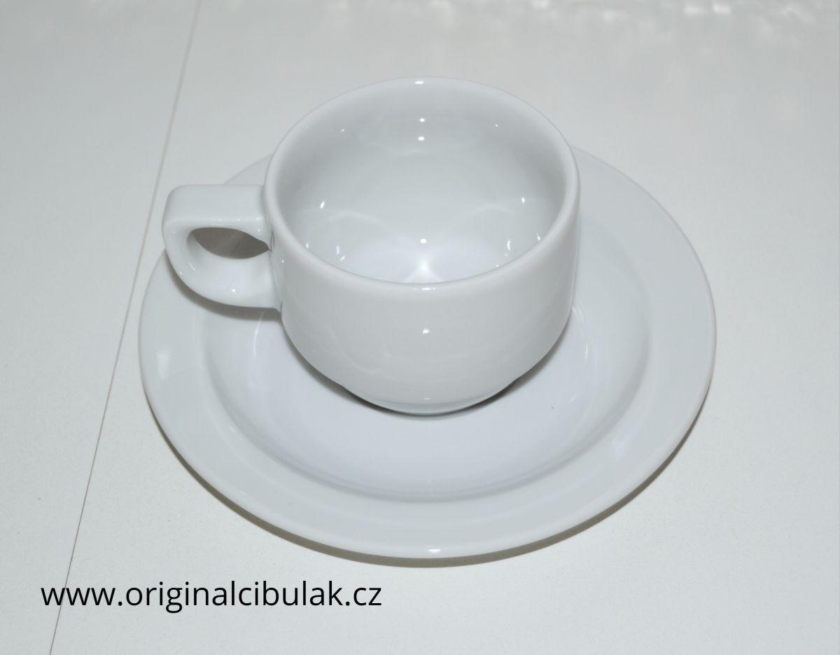 Šálek a podšálek nízký 140 Praktik bílý Thun