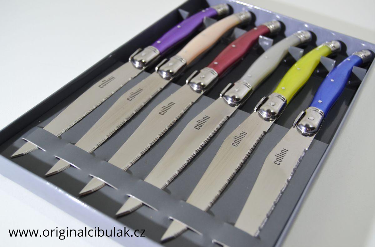 sada nožů na steak 6 ks barevných Berndorf Collini