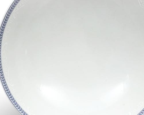 mísa kompotová Opál 22 cm krajka modrá Thun 1 ks český porcelán